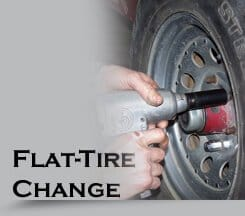flat-tire change in Naperville